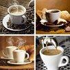 Artland 4-tlg. Leinwandbilder-Set Kaffee von Mayer, Yastremska, Tessieri, Hagenbusch