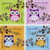 Artland Owls by Jule Wall Art on Canvas Set (Set of 4)