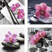 Artland 4-tlg. Leinwandbilder-Set Asia Composition I,II