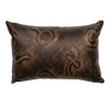 Wooded River Stampede Fabric Leather Lumbar Pillow