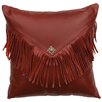 Wooded River Redrock Canyon Leather Throw Pillow