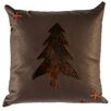 Wooded River Leather Throw Pillow