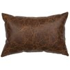 Wooded River Embossed Leather Lumbar Pillow
