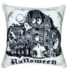 Filos Design Halloween Haunted House Indoor/Outdoor Throw Pillow