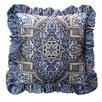 R&MIndustries Aegean Ruffled Throw Pillow