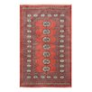 Herat Oriental Tribal Bokhara Hand-Knotted Rust/Ivory Area Rug