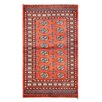 Herat Oriental Tribal Bokhara Hand-Knotted Orange/Ivory Area Rug