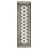 Herat Oriental Tribal Bokhara Hand-Knotted Ivory/Black Area Rug