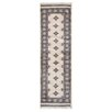 Herat Oriental Tribal Bokhara Hand-Knotted Ivory/Pink Area Rug