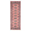Herat Oriental Tribal Bokhara Hand-Knotted Pink/Ivory Area Rug