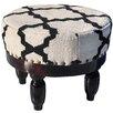 Herat Oriental Upholstered Round Ottoman