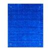 Herat Oriental Hand-loomed Gabbeh Blue/ Beige Wool Rug