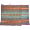 Herat Oriental Flat Weave Throw Pillow (Set of 2)
