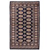 Herat Oriental Tribal Bokhara Hand-Knotted Navy Area Rug