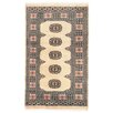 Herat Oriental Tribal Bokhara Hand-Knotted Beige Area Rug