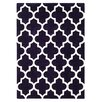 Brook Lane Rugs Arabesque Hand-Tufted Purple Area Rug