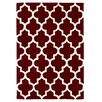 Brook Lane Rugs Arabesque Hand-Tufted Red Area Rug
