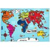 Brook Lane Rugs Bambino World Map Doormat