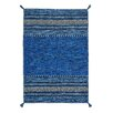 Brook Lane Rugs Kelim Hand-Woven Blue Area Rug