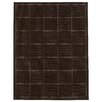 Brook Lane Rugs Check Flatweave Black Area Rug