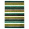 Brook Lane Rugs Jazz Hand-Woven Green Area Rug
