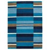 Brook Lane Rugs Jazz Hand-Woven Blue Area Rug