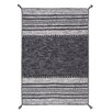 Brook Lane Rugs Kelim Hand-Woven Charcoal Area Rug