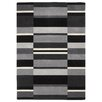 Brook Lane Rugs Jazz Hand-Woven Grey/Black Area Rug