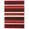 Brook Lane Rugs Jazz Hand-Woven Red Area Rug