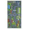 Brook Lane Rugs Motivteppich Playtime Road Map in Grau/Grün