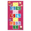 Brook Lane Rugs Playtime Hopscotch Pink Area Rug