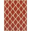 Brook Lane Rugs Trellis Flatweave Red Area Rug