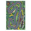 Brook Lane Rugs Playtime Race Track Grey/Green Area Rug