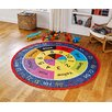 Brook Lane Rugs Nursery Multi-Coloured Area Rug