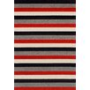 Brook Lane Rugs Viva Red/Grey Area Rug