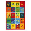 Brook Lane Rugs Playtime Numbers Red Area Rug