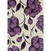 Brook Lane Rugs Viva Cream/Purple Area Rug