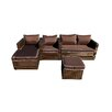 JJ International Fusion 4 Piece Deep Seating Group