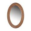 Woood Wood Oval Mirror