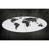 Woood 5 Continent Wall Decor (Set of 4)