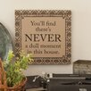 Heritage Lace Downton Life Never Textual Art