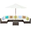 Modway Monterey 8 Piece Deep Seating Group with Cushions