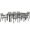 Modway Maine 9 Piece Outdoor Patio Dining Set