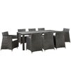 Modway Junction 9 Piece Outdoor Patio Dining Set