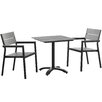 Modway Maine 3 Piece Dining Set