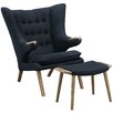 Modway Bear Lounge Chair and Ottoman Set