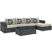 Modway Summon 5 Piece Deep Seating Group