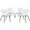 Modway Swerve Arm Chair (Set of 4)