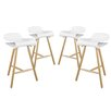 "Modway Clip 27"" Bar Stool (Set of 4)"