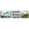 Graham & Brown Ribbon Transportation 3 Piece Graphic Art on Canvas Set (Set of 3)